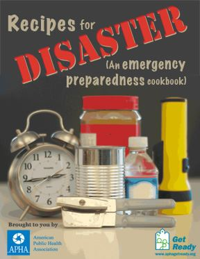 APHA Recipe for Disaster Emergency Preparedness Cookbook Cover